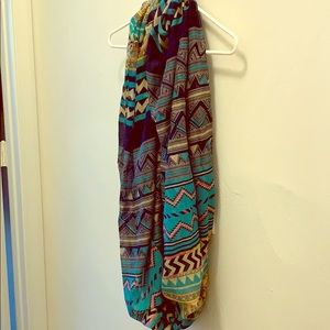 Colorful and fun infinity scarf